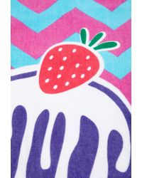 Forever 21 - Multicolor Chevron Ice Cream Beach Towel - Lyst