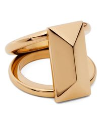 Rebecca Minkoff | Metallic Rectangle Stud Ring | Lyst