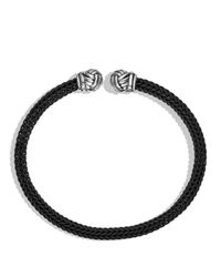 David Yurman - Metallic Maritime Cuff In Black for Men - Lyst