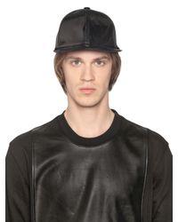 D by D - Black Vinyl Baseball Hat for Men - Lyst
