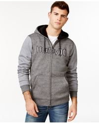 Hurley | Black Getaway Sherpa Fleece Hoodie for Men | Lyst