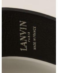 Lanvin - Black Leather Band Bracelet - Lyst
