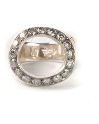 Rosa Maria | Metallic White Diamond Ring | Lyst