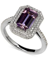 Arabella - Purple And White Swarovski Zirconia Ring In Sterling Silver - Lyst