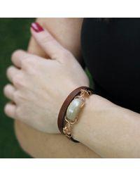 Federica Rettore - Metallic Banded Agate Wrap Bracelet - Lyst