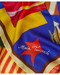 Maia Franceschi - Multicolor Multicolour Bubaloo Silk Scarf - Lyst