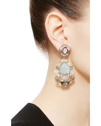 Nak Armstrong - White Aquamarine Ruffled Drop Earrings - Lyst