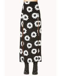 Forever 21 - Black Flower Child Maxi Skirt - Lyst