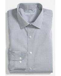 Michael Kors | Gray Regular Fit Non-iron Dress Shirt for Men | Lyst