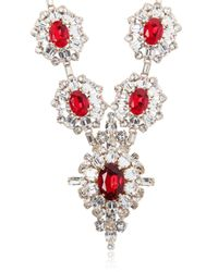 DSquared² - Red Crystal Necklace - Lyst