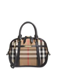 Burberry - Black 'small Orchard' Satchel - Lyst