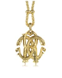 Roberto Cavalli - Metallic Rc Luxe Pendant Necklace - Lyst