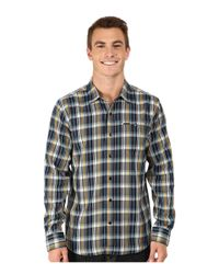 Volcom | Blue Bartlet Long Sleeve Woven for Men | Lyst