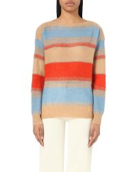 Closed - Natural Striped Knitted Jumper - Lyst