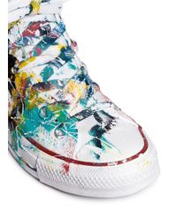 Rialto Jean Project - Multicolor One Of A Kind Hand-painted Splash High Top Sneakers - Sz 38 - Lyst