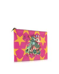 Vivienne Westwood - Metallic Large Printed Leather Pouch - Lyst