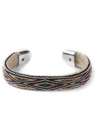 Chamula | Brown/Beige/Turquoise Bendable Bracelet for Men | Lyst