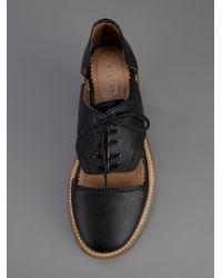 Minimarket Black Cut-Out Shoe