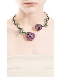 Wendy Yue | Green Flower Necklace | Lyst