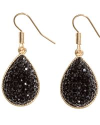 H&M | Black Tear-shaped Earrings | Lyst