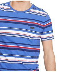Polo Ralph Lauren | Blue Multi-striped Pocket T-shirt for Men | Lyst