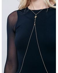 Free People | Metallic Serenity Body Chain | Lyst