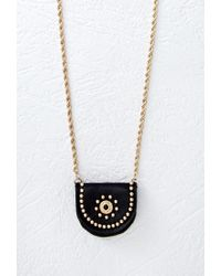 Forever 21 | Black Satchel Pendant Necklace | Lyst