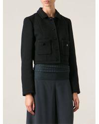M Missoni - Black Cropped Jacket - Lyst