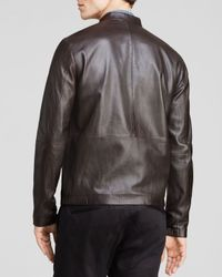 Theory | Brown Arvid L Revolt Leather Jacket for Men | Lyst