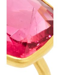 Marie-hélène De Taillac - Metallic 22K Yellow Gold And Rubelite Princess Ring - Lyst