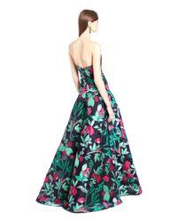 Oscar de la Renta | Multicolor Painted Rosebud Fil Coupe Gown Jade Swarovski Crystal Branch Earrings | Lyst