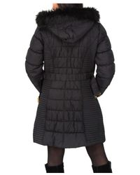 Jane Norman Black Longline Belted Padded Coat