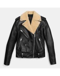 COACH | Black Boys Biker Jacket | Lyst