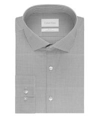 Calvin Klein | Gray Checkered Cotton Sportshirt for Men | Lyst