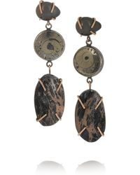 Melissa Joy Manning - Brown 14-karat Rose Gold And Sterling Silver Multi-stone Earrings - Lyst