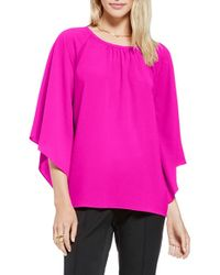 Vince Camuto - Pink Kimono Sleeve Blouse - Lyst