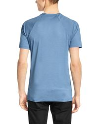 HUGO | Blue 'draper' | Cotton Lyocell T-shirt for Men | Lyst