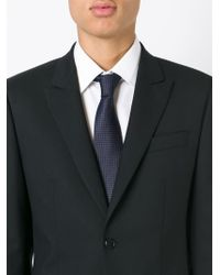 BOSS - Gray Woven Tie for Men - Lyst