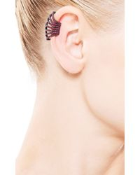 Yossi Harari - Pink Lilah Cage Ruby Ear Cuff in Oxidized Gilver - Lyst
