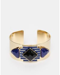 Girls On Film | Blue Multi Jewel Cuff | Lyst