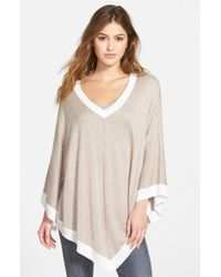 Splendid | Natural Colorblock Poncho | Lyst