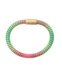 Carolina Bucci - Green Neon Twister Band Bracelet - Lyst