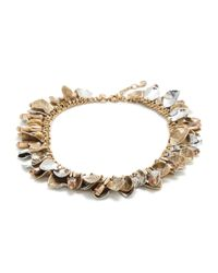 J.Crew | Metallic Petal Wreath Necklace | Lyst
