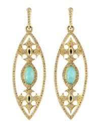 Armenta | Blue Marquise Maltese Cross Earrings | Lyst