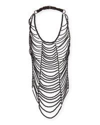 Brunello Cucinelli | Black Agate Necklace | Lyst