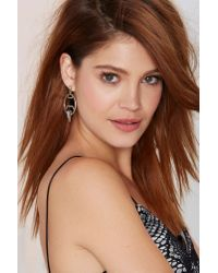 Nasty Gal - Metallic Piece Of The Pyrite Earrings - Lyst