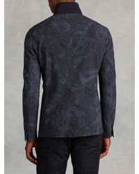 John Varvatos - Blue Wool Plaid Jacket for Men - Lyst