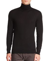 Ralph Lauren Black Label - Black Merino Wool Turtleneck Sweater for Men - Lyst