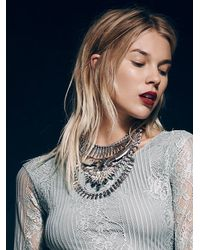 Free People - Metallic Noir Womens Atlantis Statement Collar - Lyst