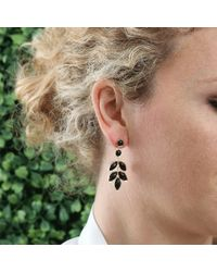 Irene Neuwirth | Metallic Marquis Black Onyx Earrings | Lyst